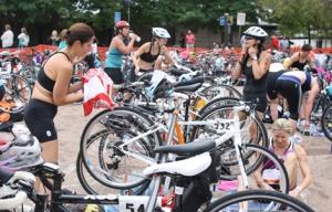 Transitioning from swim to bike