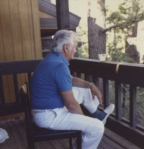 How I remember Dad - relaxing with a vodka gimlet at Tahoe