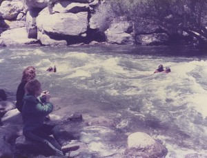 We all practiced floating down river just in case we found ourselves in it