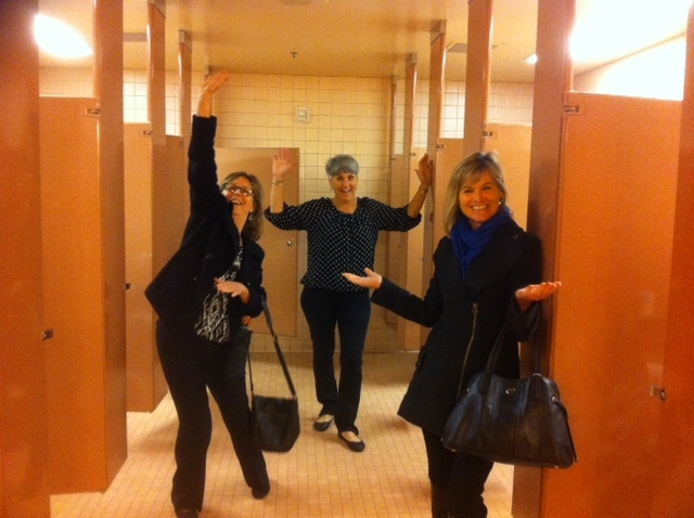 Sheila, Patty and Pam - ecstasy in the restroom