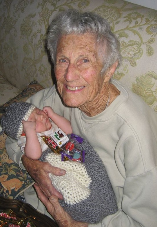Mrs. D with her great grandson, Liam