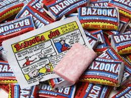 Bazooka gum with comic