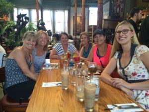 Pam, Elaine, Sharon, me, Corinne & Caitlin
