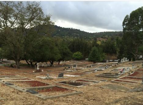 overcast graveyard