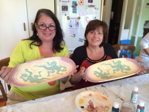 Making Aboriginal designed bowls