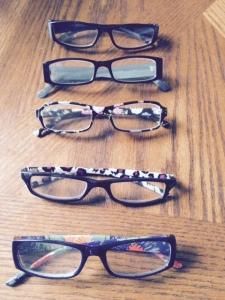 5 weeks worth of glasses