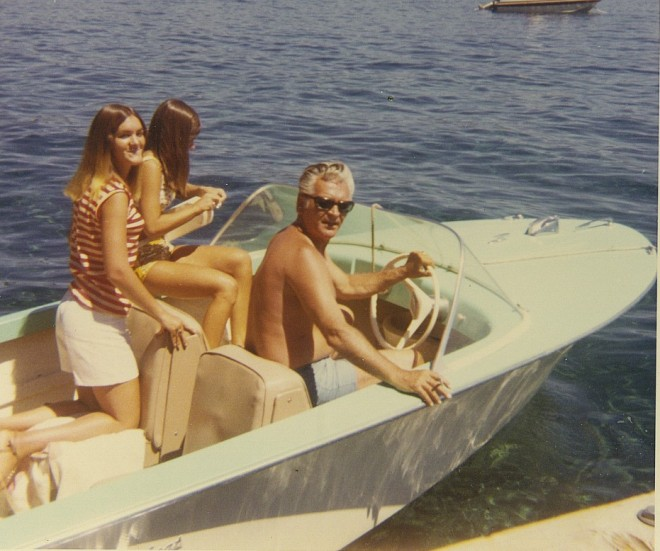 dad in boat with us