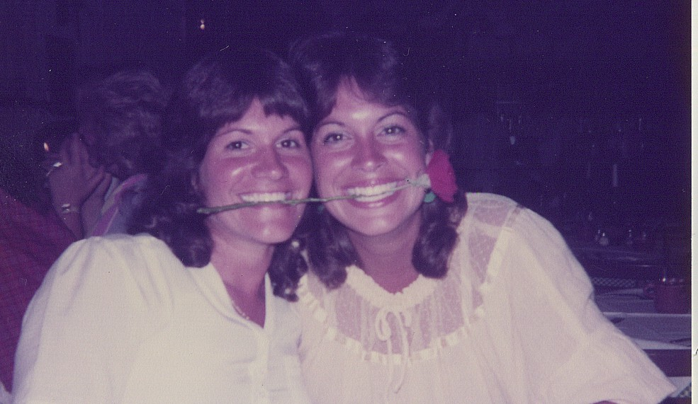 A much younger Sharon and me