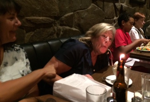 Blow those candles, Joan!