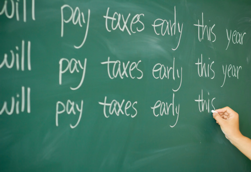 pay taxes early