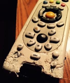 chewed remote