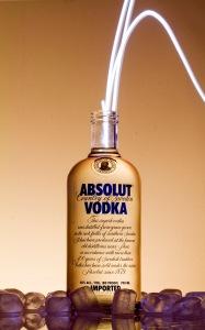vodka with straw