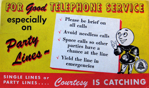 party line rules