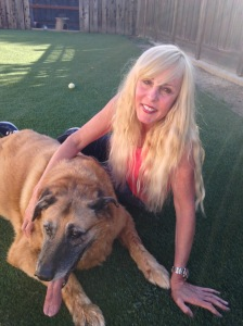 Kathy and dog