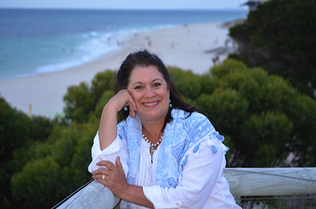 Sharon at beach