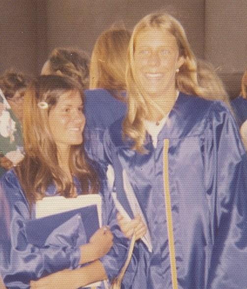Sue & I graduating