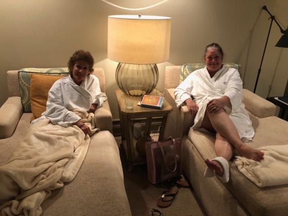 me and Sharon at spa