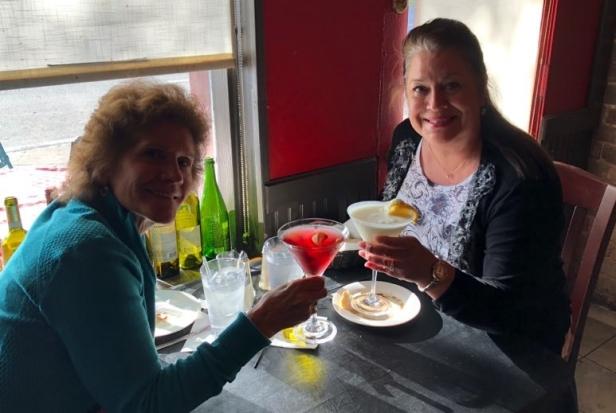 Me and Sharon toasting Savannah
