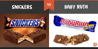 snickers and baby ruth bars
