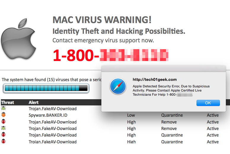 Apple virus warning
