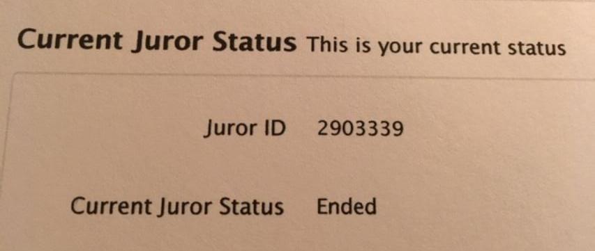 juror status