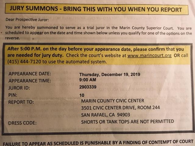 my jury summons