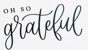 Oh so grateful