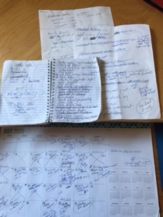 notes everywhere